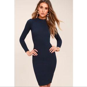 Lulus I Mist You Long Sleeve Bodycon Midi Dress